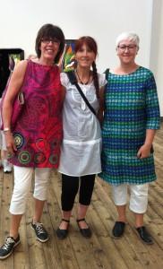 Tre glada utställare på Blekingar 2014