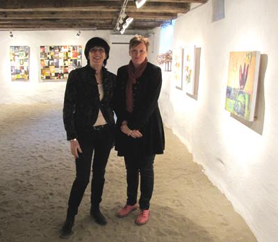 Utställning på Galleri Karibakka. Kicki Noren med mig Ulla Niemi