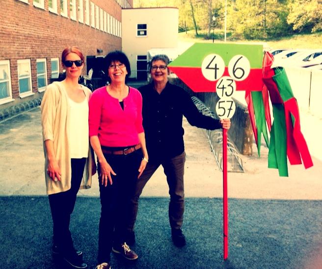 Lotta, Ulla och Anita redo att öppna årets Konstrunda på Strömma